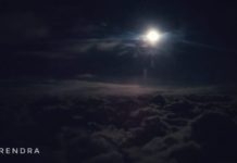 Moon light at 30000 feet