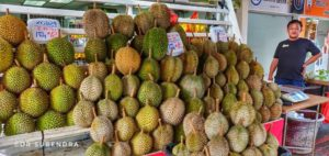 Durian - the national fruit of Singapore