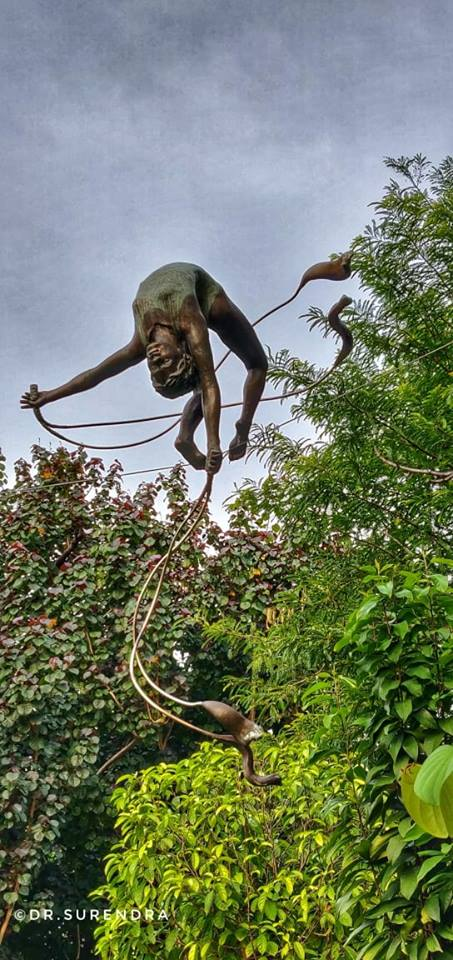 Gymnast - Sculpture at Botanical gardens Singapore.