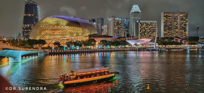 Nightscape of Singapore.