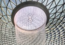 Rain Vortex at the Jewel, Changi airport Singapore