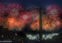 Fireworks on July 4th at Washington DC