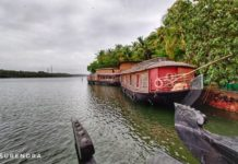 Houseboats at Ashtamudi lake