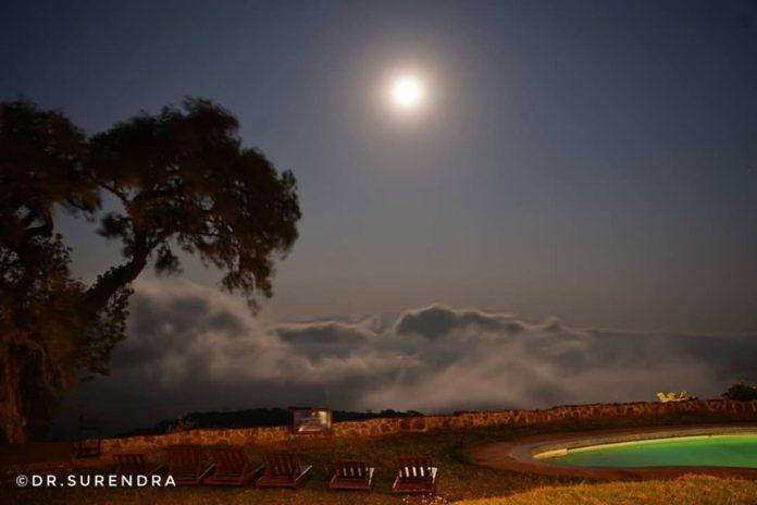 Full moon at the Ngorongoro