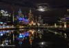 Nightscape of Melbourne Australia.