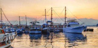 Antalya Marina glowing