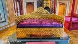 The Golden throne of Ottoman Sultans