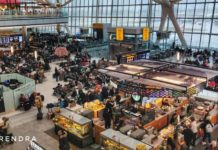 Heathrow airport, terminal 5, London