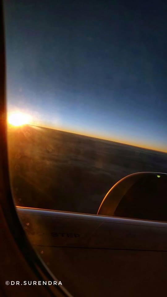 Sunrise at 30,000 ft.