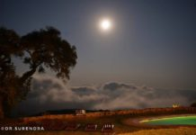 Full moon at the Ngorongoro