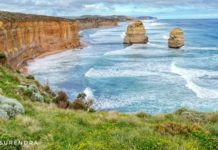 Scene at The view point at Twelve Apostles