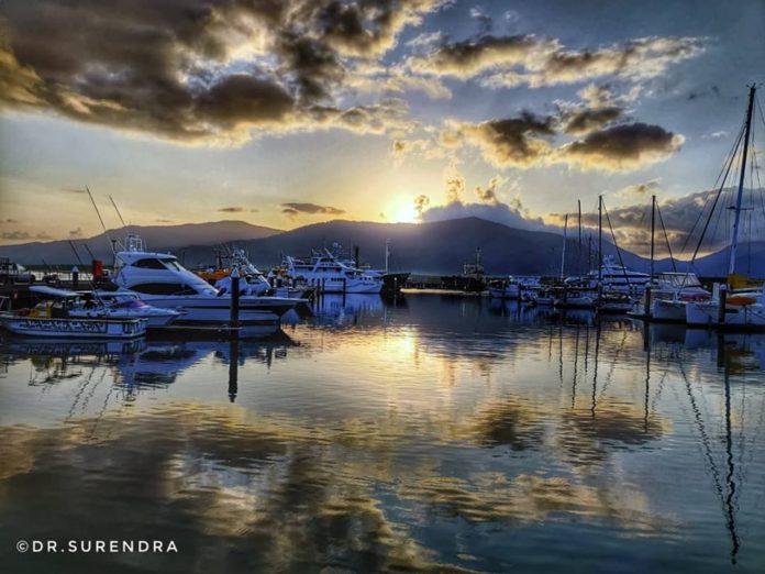 Sunrise at Cairns, Queensland Australia.
