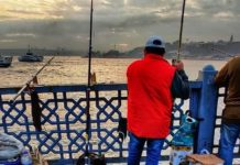 Morning catch at Galata bridge