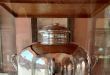 Silver urn and Gangajal