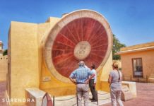 The sun dial at Jantar Mantar Jaipur Rajasthan