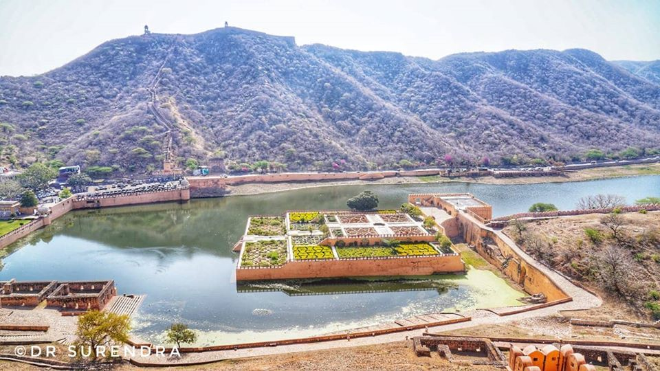 The Maota lake Amber fort Jaipur