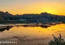 Sunset view at Mount Abu, Rajasthan.