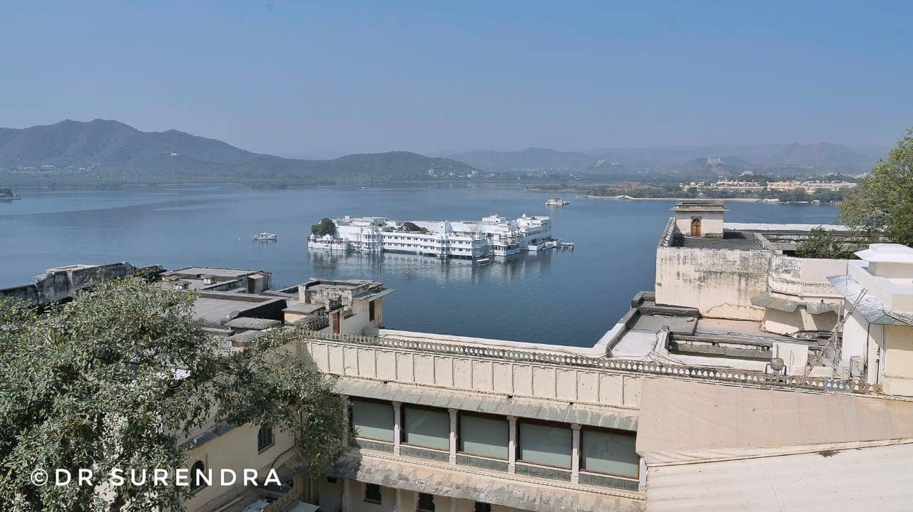 The view from City palace - Udaipur Rajasthan,