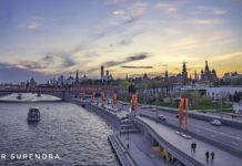 Moskva river with Kremlin