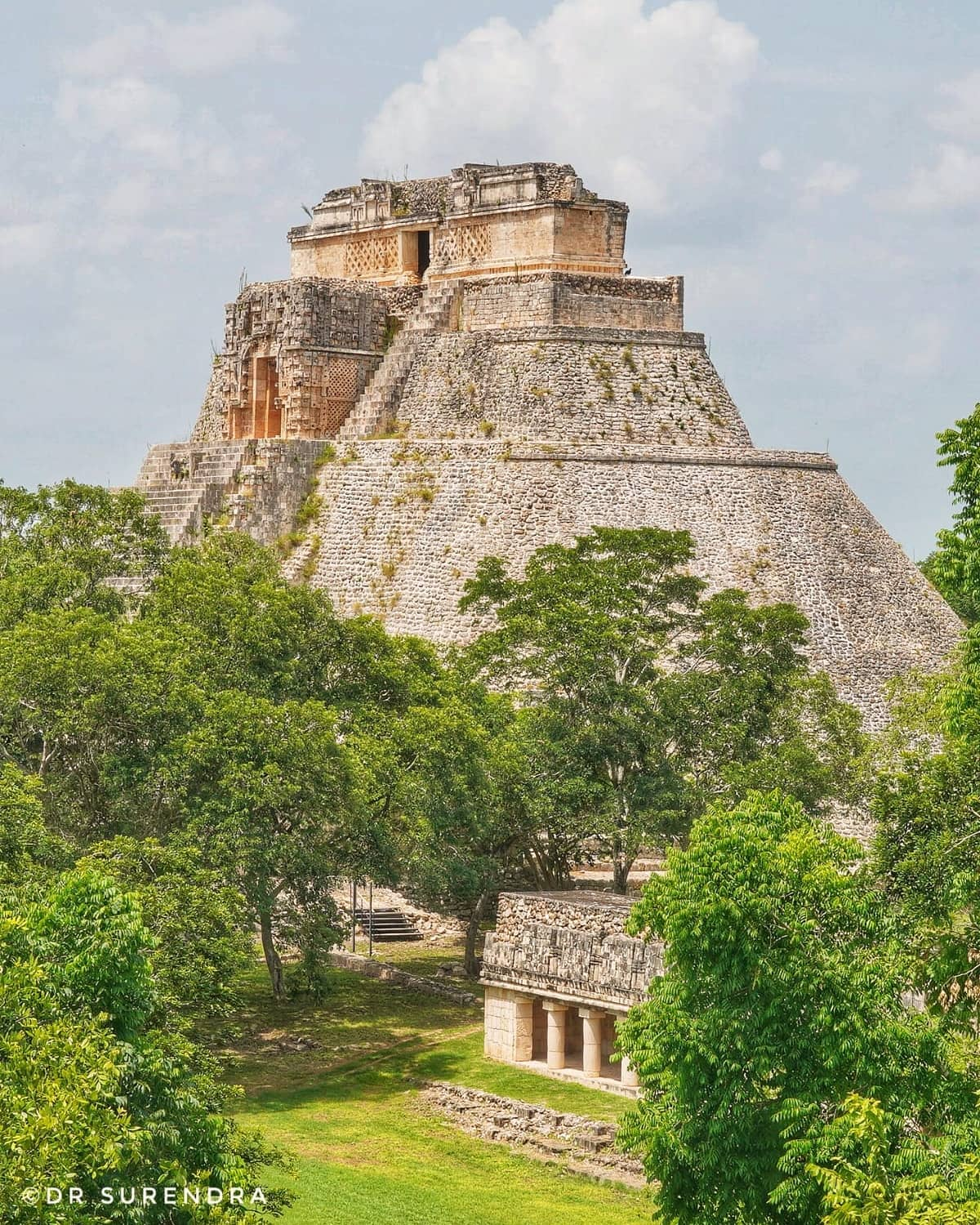 *My Picture of the day* The Pyramids of Mexico - seen in the ancient Mayan city of Uxmal, Yucatan state, Mexico. These pyramids dating back to 500 BC were built by people of Maya culture who inhabited southern Mexico and Goutemala. While the Egyptian pyramids are well known these pyramids are equally remarkable in their architecture and sophistication. ***** *Dr.Surendra* — at Uxmal Ruins