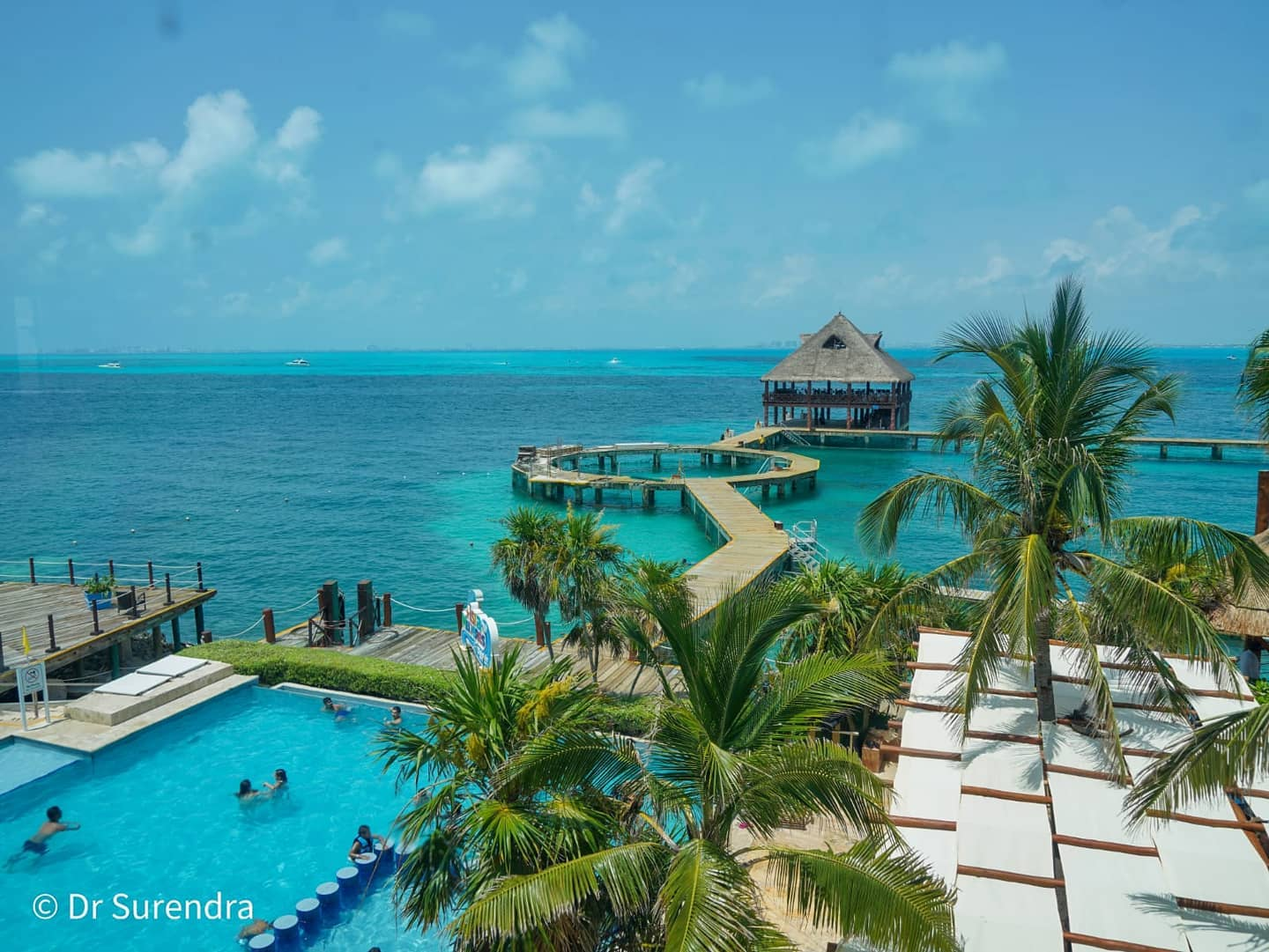 *My Picture of the day* Dolphin island (Isla Mujeres) at Cancun, Mexico - swim and interact with sea animals like Dolphins, Manatees and Sea lions. The sea and surroundings are spectacular. ***** *Dr.Surendra* — at Isla Mujeres, Punta Sur
