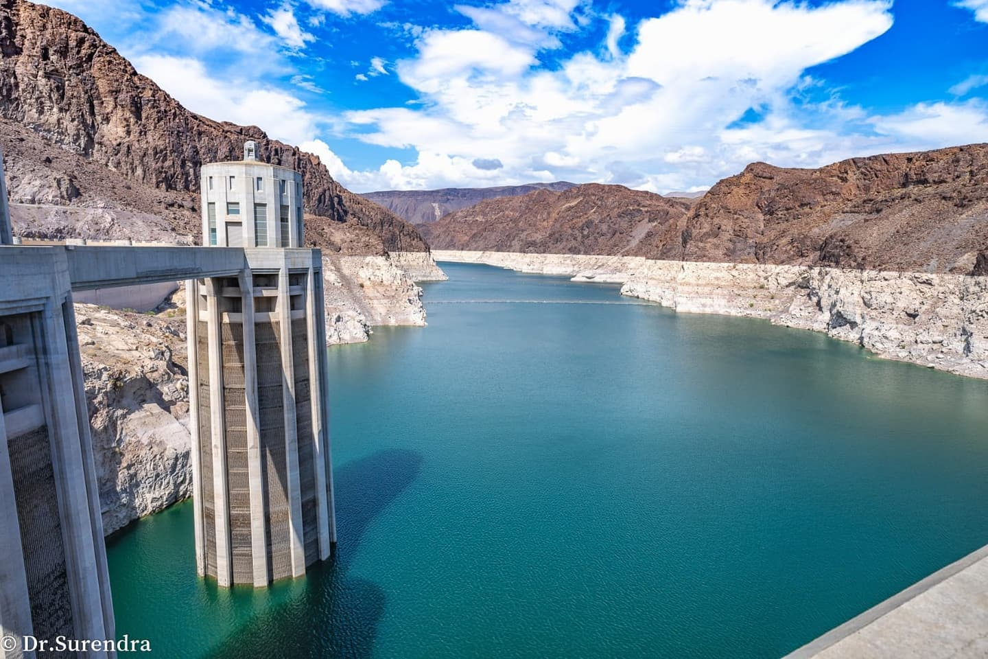 *My Picture of the day* Historic low - this is the reservoir of Hoover dam built on Colarado river, USA. The water level dropped to the lowest since 1930's. The climate change is bringing droughts to one part of the World and floods to the other. ***** *Dr.Surendra* — in Hoover Dam, Arizona