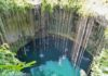*My Picture of the day* The sinkholes of Mexico - in Yucatan region all the rivers flow underground. The soil is made of limestone which gets dissolved and forms natural sinkholes. These are called cenotes and used by Mayan people for fresh water. ***** *Dr.Surendra* — at Chichen Itzá