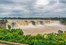 *My Picture of the day* Chitrakoot waterfalls, Chattisgarh in central India - it is the widest waterfall in India and is at its full size during monsoon season. ***** *Dr.Surendra* — at Chitrakoot Waterfall